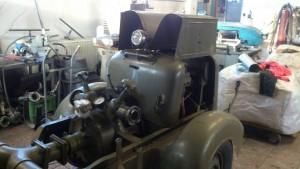 Motorová dvoukolová stříkačka DS12 – R.A. Smekal, rok výroby 1940
